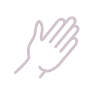 Illustrated icon of a hand