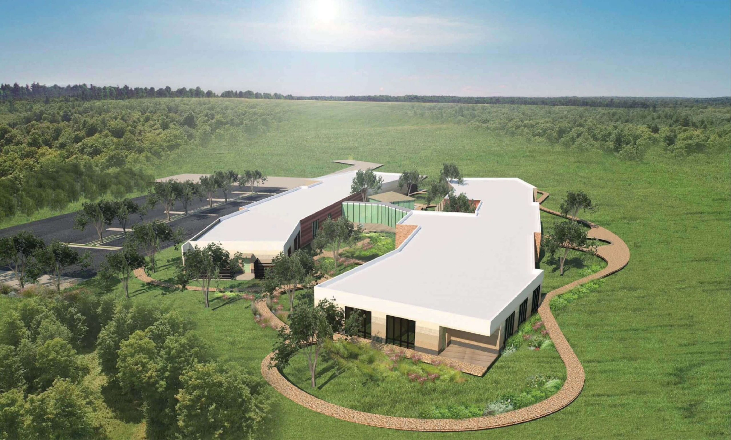 Artists impression of the new Anam Cara building and grounds