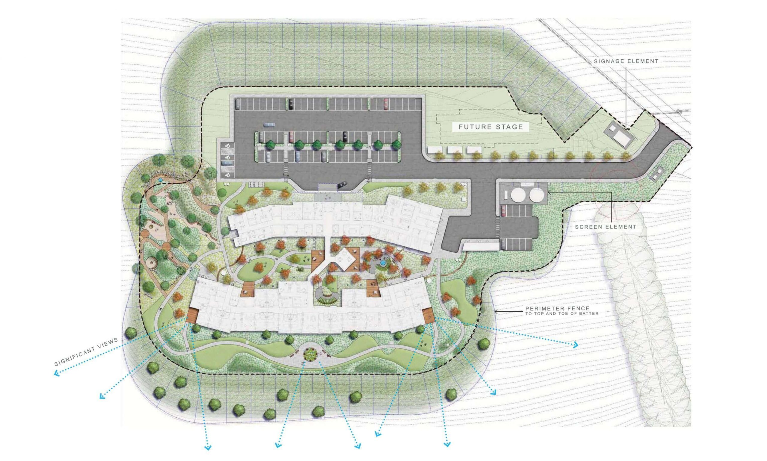 Artist's impression of the new Anam Cara property overview plans