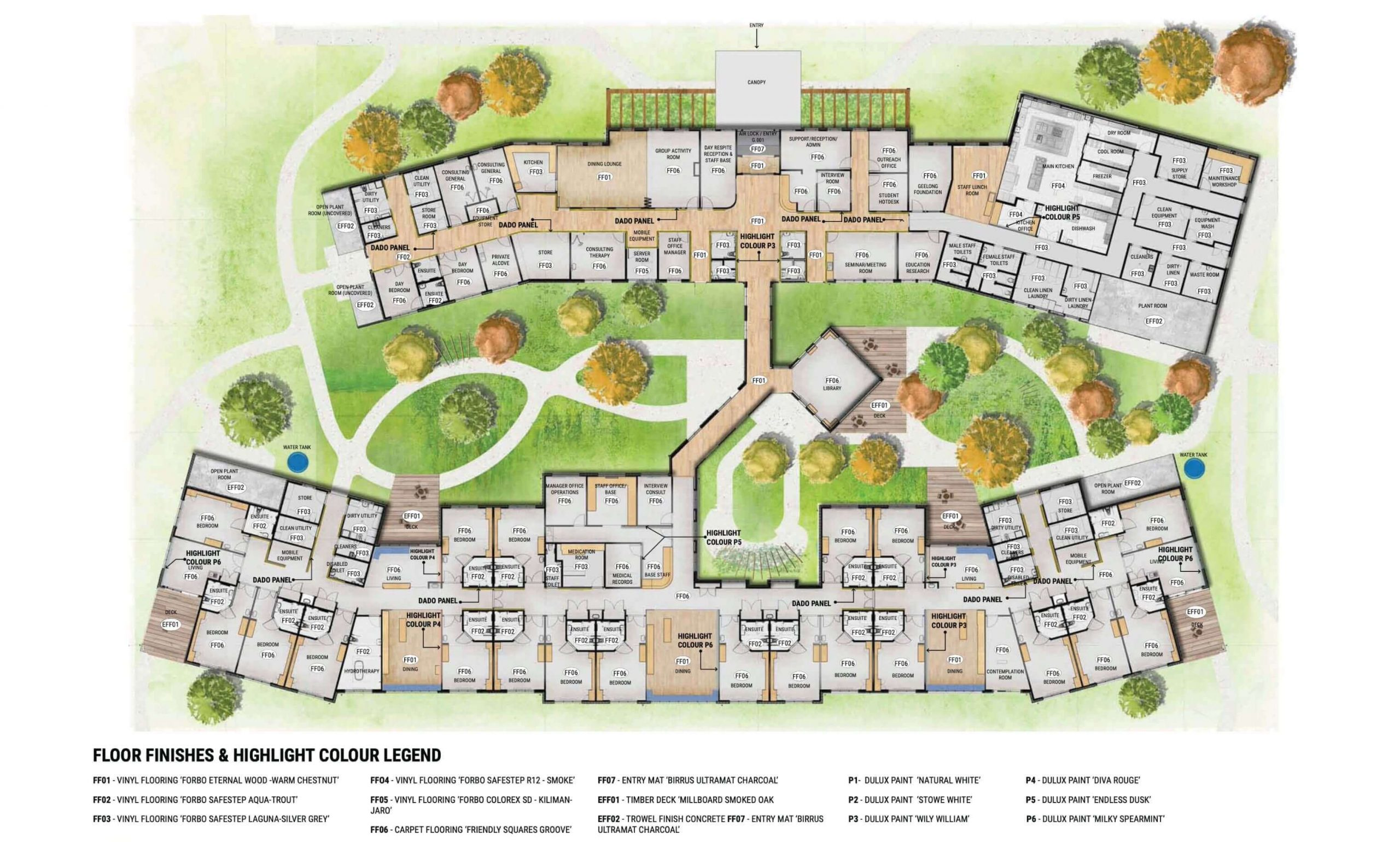 Artist impression of the new Anam Cara overview plans